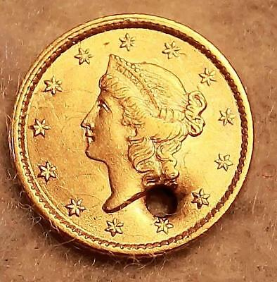 Genuine Pre-Civil War US 1852 1.00 Dollar Gold Coin NR