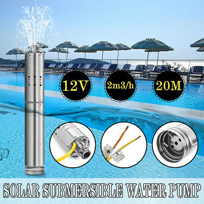 2m³/H 110W Solar Powered Water Pump Farm&Ranch Submersible Bore Hole Deep Well