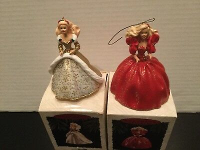BARBIE Christmas Ornaments 1993 And 1994 Lot Of Two  Collectible
