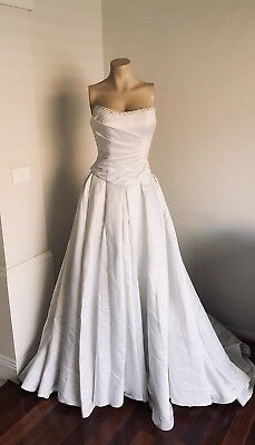 SUZANNE HARWARD - White Wedding Dress Designer Ball Gown Size 6-8