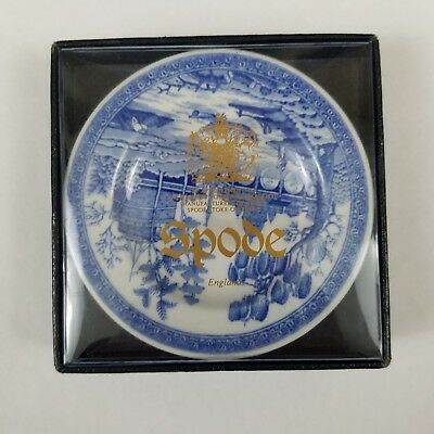 """The Spode Blue Room Collection Georgian Series Rome 3"""" Blue Plate England Butter"""