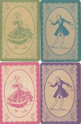 Golden Oldies - Vintage Playing Swap Cards - 4 Colours - 4 Cards - Assorted Cond