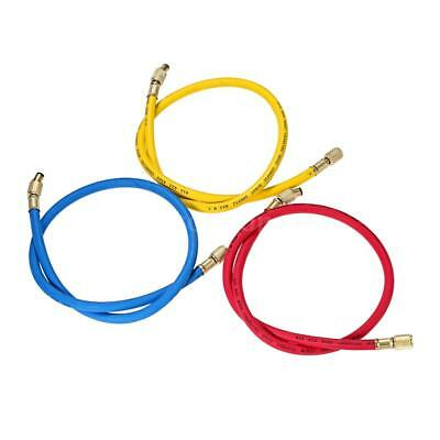 "3pcs 1/4"" SAE R12 R22 R502 Manifold Gauge Sets Three-color Charging Hoses V0A4"