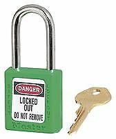 ZENEX LOCKOUT PADLOCK GREEN Security Locks - GR76766