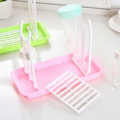 Infant Baby Bottle Dryer Rack Kitchen Cup Clean Drying Shelf Feeding Holder US