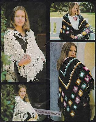LACY & GRANNY SQUARE / SHAWLS  - COPY Ladies crochet pattern