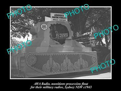 OLD LARGE HISTORIC PHOTO OF THE AWA RADIO MILITARY INSTRUMENTS FLOAT, c1943 2
