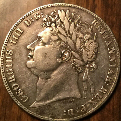 1821 UNITED KINGDOM SILVER HALF CROWN - A great example !
