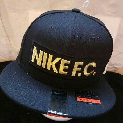 NIKE F.C unisex black  baseball cap hat Neymar Football CR7 snap back BNWT