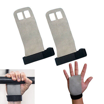 Gym Hand Grips Leather Palm Protector Guards Fitness Weight lifting Training