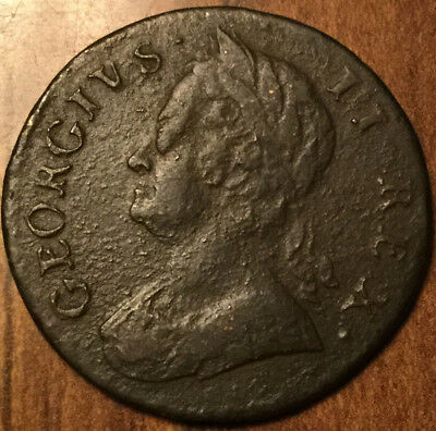 1746 UNITED KINGDOM HALF PENNY - Excellent example !