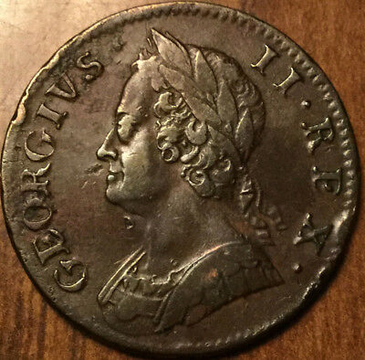 1753 UNITED KINGDOM HALF PENNY - Stunning !