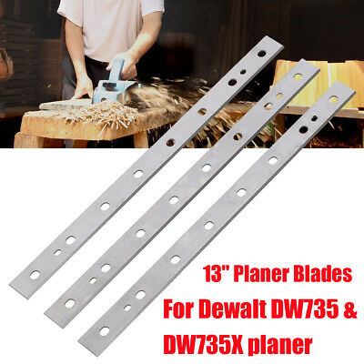 3x 13'' High-speed Steel Planer Blades For Dewalt DW735 DW735X Replacement Part