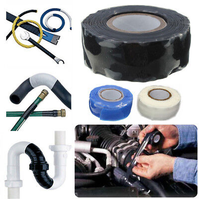 UK Waterproof Silicone Repair Tape Permormance Bonding Self Fusing Wire Hose pip