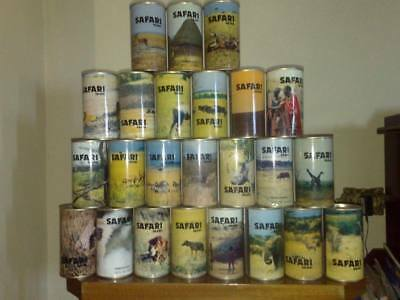 24 Can Safari Animal Set from Africa. Excellent condition.