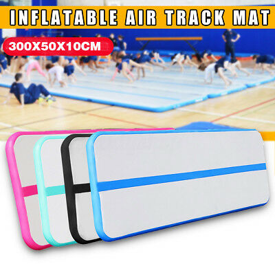 10ft Inflatable Air Track Tumbling Floor Gymnastics Practice Training Mat GYM