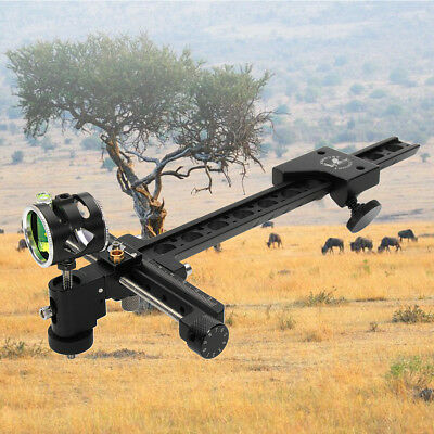 Pro Compound Archery Bow Sight 1 Pin 0.059'' Micro Adjust Hunting Target Arrow