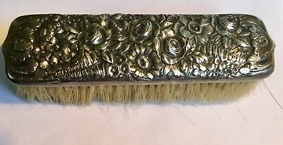 Antique Signed Sterling Tiffany & Co Reposseau Clothing Brush