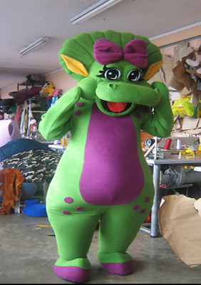 Baby Bop Green Dinosaur Mascot Costume Party Character Barney Adult Halloween & BABY BOP GREEN Dinosaur Mascot Costume Party Character Barney Adult ...