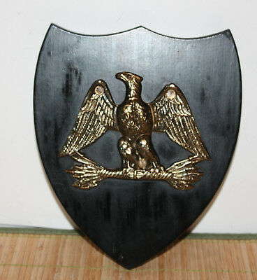 """Metal Eagle on Plaque Wall Mount 7"""" x 8"""""""