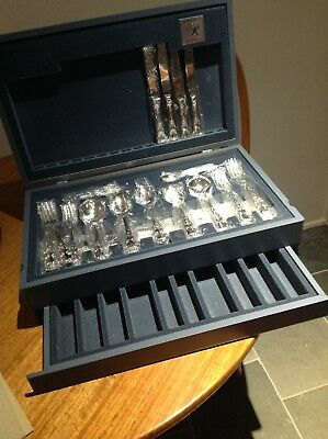 Rodd Silver Plate Heirloom Cutlery Canteen/set - 58 Pieces Never Used