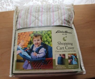 Eddie Bauer Shopping Cart Cover  Clean & Padded Seat for Baby Bought for gift