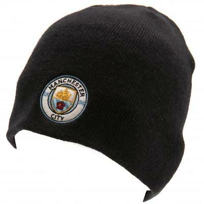 Manchester City Fc Man Knitted Hat NV Beanie Cap Football Official