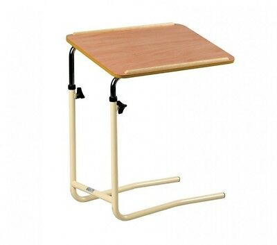 Overbed Table - Adjustable Height & Tilting Top for Divan Beds & Chairs