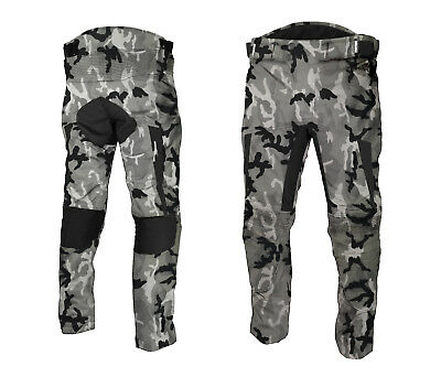 Motorbike Textile Trouser Waterproof Motorcycle Cordura Pant Camo With Armour's