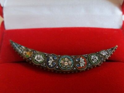 OLD Brooch ANTIQUE Micromosaic Venetian Murano