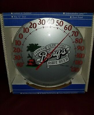 Vintage Barqs root beer Advertising Thermometer~NICE