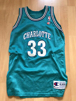 Original Champion Kinder Alonzo Mourning NBA Trikot, Hornets, Größe XL18-20