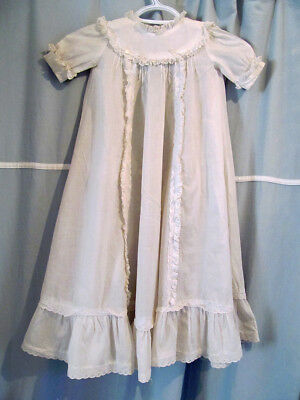 Vintage Baby Christening Gown with eyelet lace and tucks 29 inches long/
