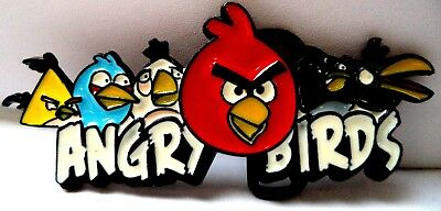 """Stunning Estate Angry Birds Game Movie Colorful 4 1/2"""" Belt Buckle!!!! 144L"""