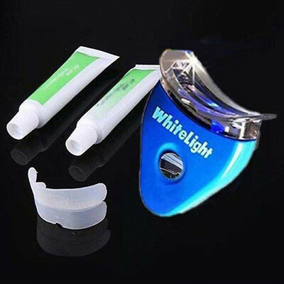 Oral Care Gel Teeth Tooth Whitening Whitener Dental Bleaching LED White Kit Con