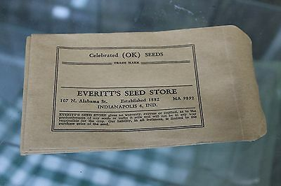 Vintage Everitt's Seed Store Envelopes Indianapolis, IN Lot of 20