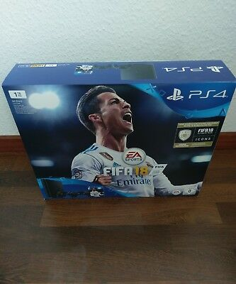 SONY PlayStation 4 1TB Schwarz + FIFA 18 + 2. Controller + PS Plus 14 Tage