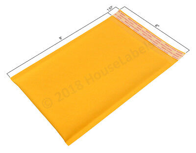 "500 Bags #0 6""X10"" KRAFT Bubble Mailer Padded Envelope Interior 6""X9"""