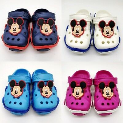 Mickey Minnie Mules Clogs Summer Breathable Outdoor Child Slippers Sandals