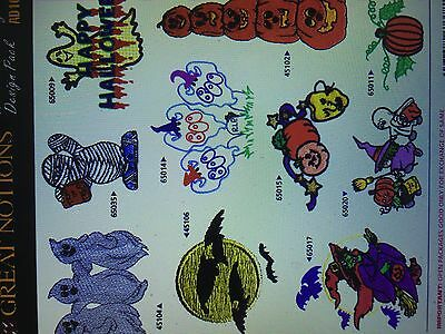 Over 600 Halloween Embroidery Designs 33 Sets Collection In Pes For On Cd