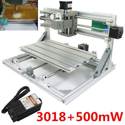 3 Axis 3018 GRBL Control + 500mw Laser DIY CNC Router Milling Engraving Machine