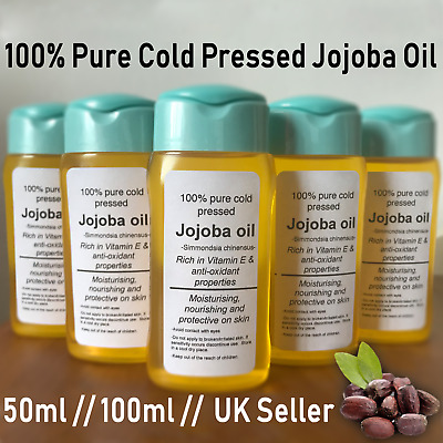 Jojoba Oil 100% Pure Cold Pressed Premium 50ml 100ml Certified