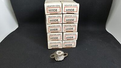 .(5 Lots of 2)   NEW Cutler Hammer H1108 Heater Coil Overload Element NOS