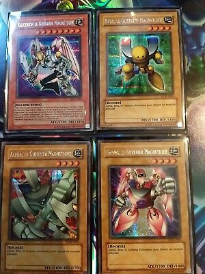 lot carte yu gi oh • 4 guerriers mécanique