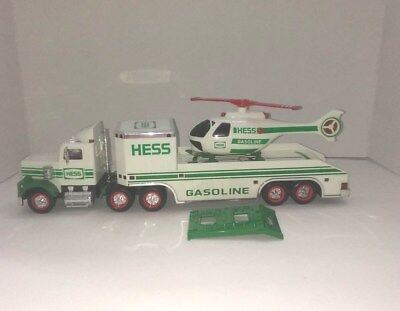 1995 Hess Toy Truck & Helicopter - Real Lights, Vintage