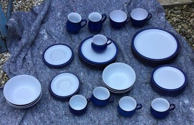 Job Lot Blue Denby Plates, Mugs, Bowls, Cups
