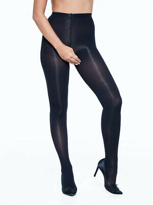 Miss Naughty 50 Denier Opaque Crotchless Tights Open Gusset Pantyhose One Size -