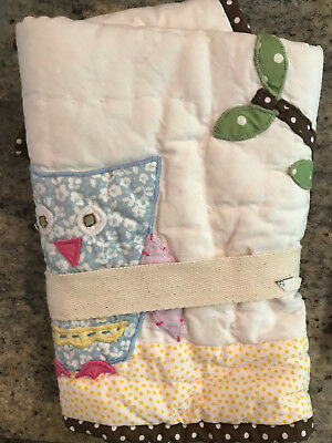 Pottery Barn Kids Haley Owl Brooks Small Quilted Deco Sham NEW