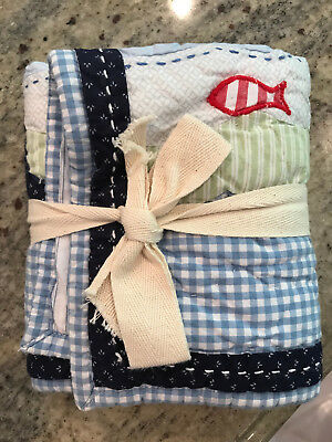 Pottery Barn Kids Jackson Small Quilted Deco Sham NEW No Cardboard Tags