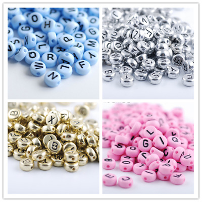 High Quality 1000PCS 7mm  A-Z Multicolor Alphabet/Letter Acrylic Spacer Beads